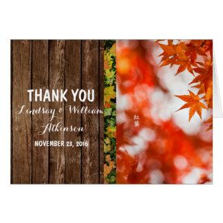 Herbstlaub/danken Ihnen Karte