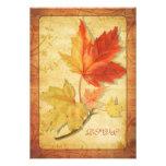 Herbstlaub, der Antwort-Karte Wedding ist (UAWG Personalisierte Einladung
