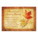 Herbstlaub, der Empfangs-Karte Wedding ist Visitenkartenvorlagen