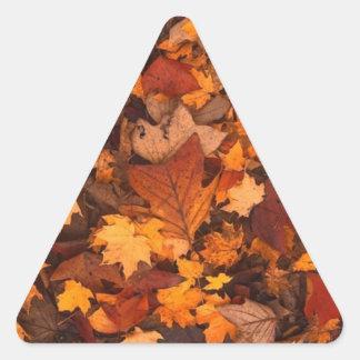 Herbstlaub Dreieckiger Aufkleber