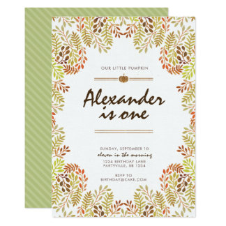 Herbstlaub-Geburtstags-Einladung Karte