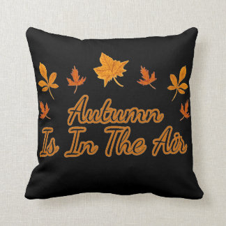 Herbstlaub-Herbst ist in der Luft Kissen