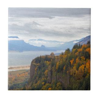 Herbstlaub in Kronen-Punkt-Columbia River Schlucht Fliese