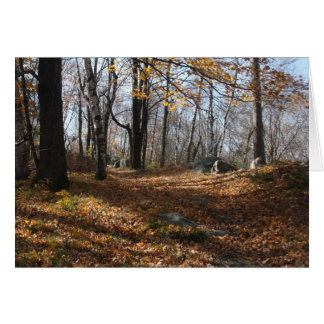 Herbstlaub Karte