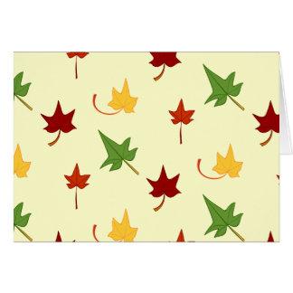 Herbstlaub: Mehrfarbiges Blätter, Anmerkungs-Karte Karte