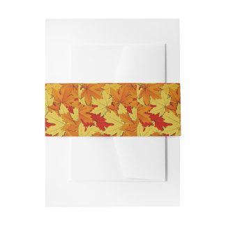 Herbstlaub-Muster-Bauch-Band Einladungsbanderole