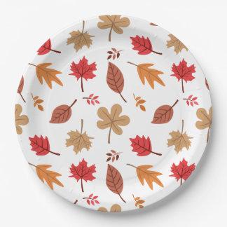 Herbstlaub-Muster Pappteller