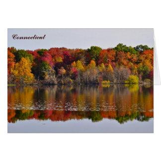 Herbstlaub Notecard Herbst färbt Connecticut Karte