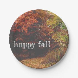Herbstlaub-Platte Pappteller
