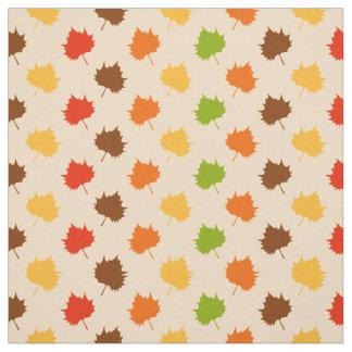 Herbstlaub, Regenbogen-Blatt-Natur-Gewebe Stoff
