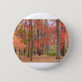 Herbstlaub Runder Button 5,7 Cm