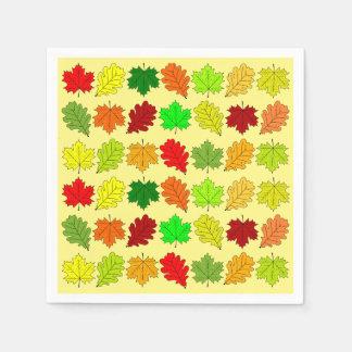 Herbstlaub Servietten