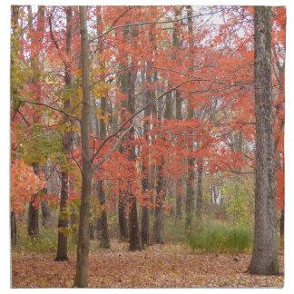 Herbstlaub Stoffserviette