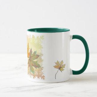 Herbstlaub-Tasse Tasse