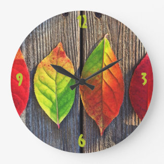 Herbstlaub-Uhr Große Wanduhr