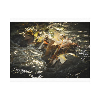 Herbstlaubwasser-Foto Leinwanddruck