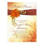 Herbstliche Blätter Brautparty-Einladung