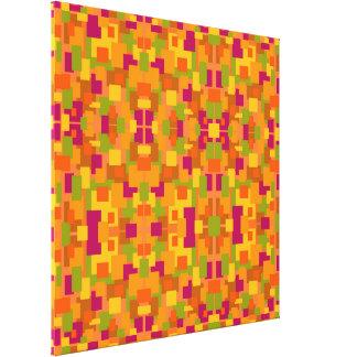 Herbstliche multi Fraktal des Flecken-2 groß Leinwanddruck