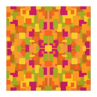 Herbstliches Fraktal des Flecken-2 B Leinwanddruck