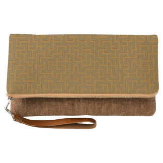 """Herbstliches"" Labyrinth gemustert Clutch"