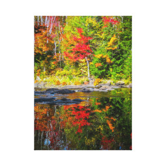 Herbstreflexionen Leinwanddruck