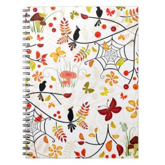 Herbstvögel Spiral Notizblock