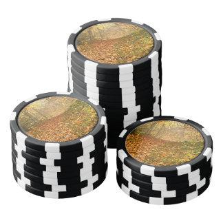 Herbstwald Pokerchips