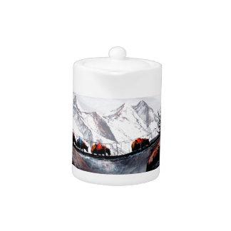Herde der Gebirgsyak Himalaja