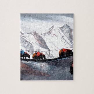 Herde der Gebirgsyak Himalaja Puzzle