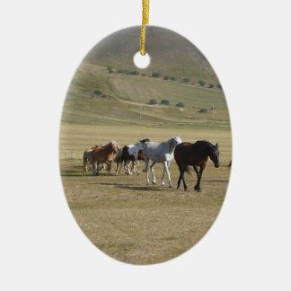 Herde der Pferde Keramik Ornament