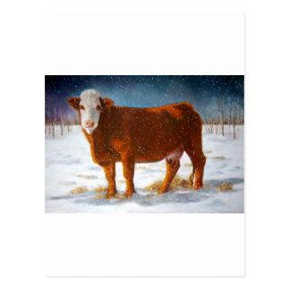 HEREFORD RINDFLEISCH-KUH: PASTELLkunst Postkarte