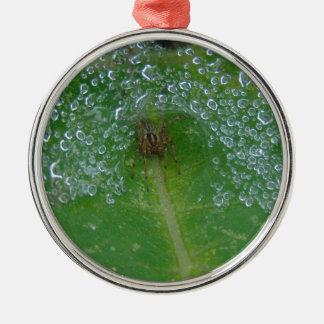 Herein angegangen rundes silberfarbenes ornament