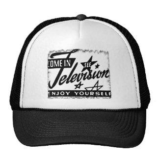 Hereingekommen sehen Sie Fernsehen, sich zu amüsie Trucker Kappe