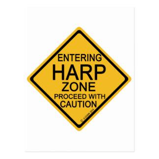 Hereinkommende Harfen-Zone Postkarte