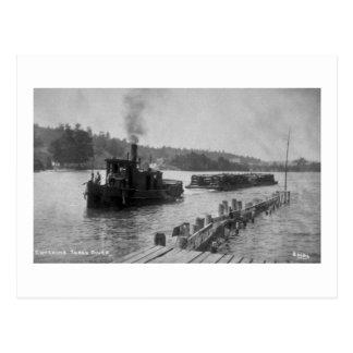 Hereinkommender Fackel-Fluss Postkarte
