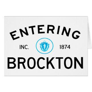 Hereinkommendes Brockton Karte