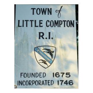 Hereinkommendes kleines Compton, RI Postkarte