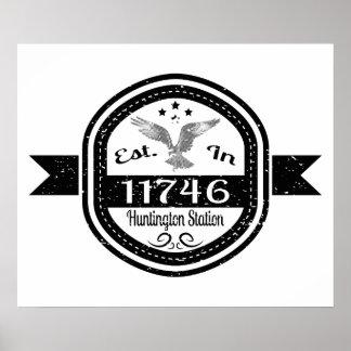 Hergestellt 11746 Huntington in der Station Poster