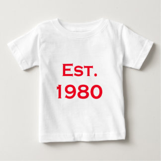 hergestellt 1980 baby t-shirt