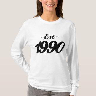 hergestellt 1990 - Geburtstag T-Shirt