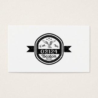 Hergestellt in 02124 Boston Visitenkarte
