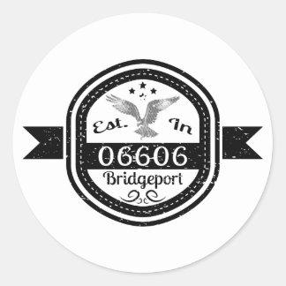 Hergestellt in 06606 Bridgeport Runder Aufkleber