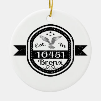 Hergestellt in 10451 Bronx Keramik Ornament