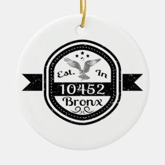 Hergestellt in 10452 Bronx Keramik Ornament