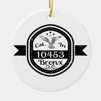 Hergestellt in 10453 Bronx Keramik Ornament