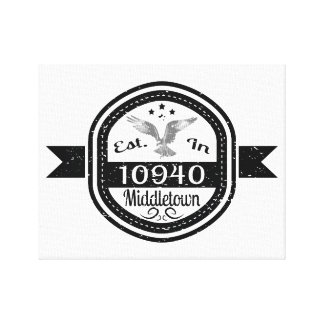 Hergestellt in 10940 Middletown Leinwanddruck