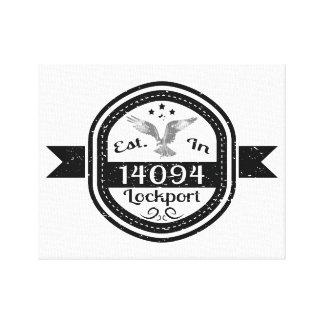Hergestellt in 14094 Lockport Leinwanddruck