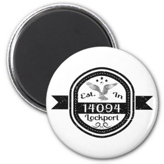 Hergestellt in 14094 Lockport Runder Magnet 5,7 Cm