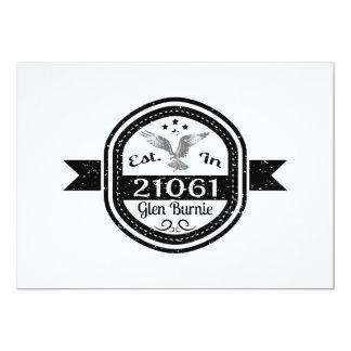 Hergestellt in 21061 Schlucht Burnie 12,7 X 17,8 Cm Einladungskarte