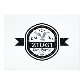 Hergestellt in 21061 Schlucht Burnie Karte